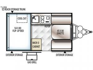 Flagstaff Hard Side T12RB Floorplan Image