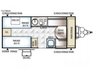 Flagstaff Hard Side High Wall Series 21TBHW Floorplan Image