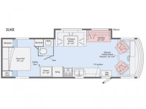 Sunstar 31KE Floorplan Image