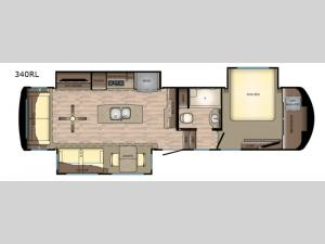 Redwood 340RL Floorplan Image