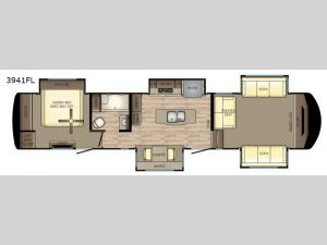 Redwood 3941FL Floorplan Image