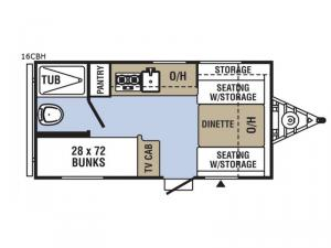 Clipper Cadet 16CBH Floorplan Image