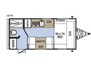 Clipper Cadet 16CFB Floorplan Image