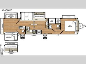 Sandpiper Destination Trailers 404QBWD Floorplan Image