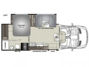 Prism Elite 24EF Floorplan Image