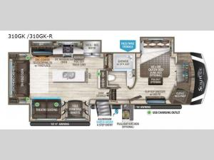 Solitude 310GK R Floorplan Image