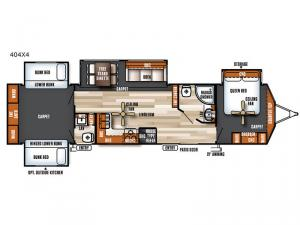 Salem Villa Series 404X4 Estate Floorplan Image