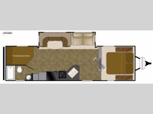 Wilderness 2850BH Floorplan Image
