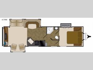 Wilderness 3175RE Floorplan Image