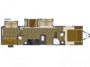 Wilderness 3350DS Floorplan Image