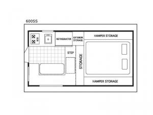 Northstar Pop-Up 600SS Floorplan Image