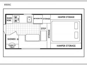 Northstar Pop-Up 850SC Floorplan Image