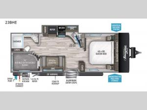Imagine XLS 23BHE Floorplan Image