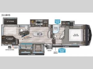 Reflection 311BHS Floorplan Image