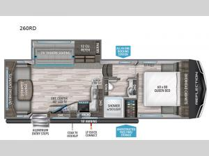 Reflection 150 Series 260RD Floorplan Image