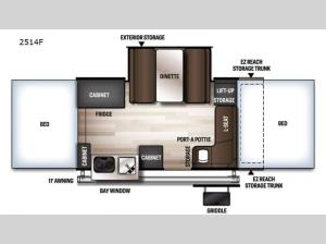 Rockwood Freedom Series 2514F Floorplan Image