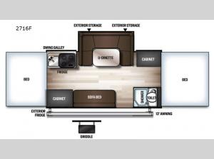 Rockwood Freedom Series 2716F Floorplan Image