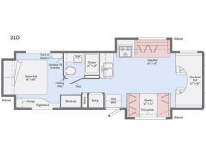Spirit 31D Floorplan Image