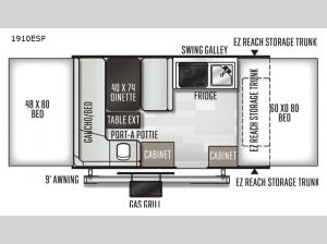 Rockwood Extreme Sports 1910ESP Floorplan Image
