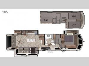 Wildwood Grand Lodge 42DL Floorplan Image