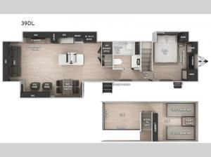 Cherokee Destination Trailers 39DL Floorplan Image