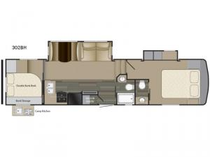 Sundance 302BH Floorplan Image