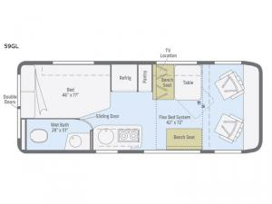 Travato 59GL Floorplan Image