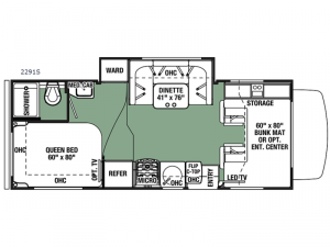 Forester 2291S Ford Floorplan Image