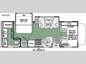 Forester 2441DS Ford Floorplan Image