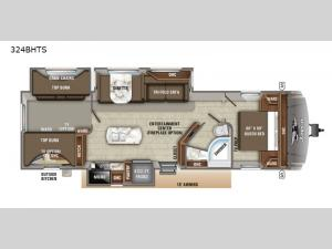 Eagle HT 324BHTS Floorplan Image