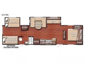 Trailmaster 321TBS Floorplan Image