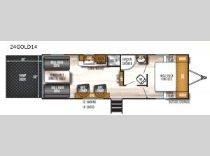 Cherokee Wolf Pack Gold 24GOLD14 Floorplan Image