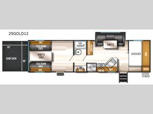 Cherokee Wolf Pack Gold 25GOLD12 Floorplan Image