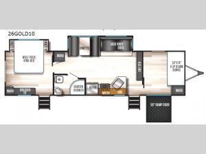 Cherokee Wolf Pack Gold 26GOLD10 Floorplan Image