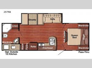 Trailmaster Ultra-Lite 257RB Floorplan Image
