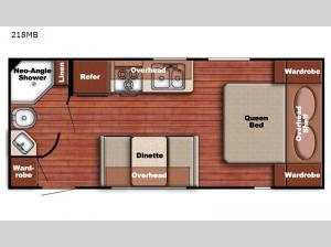 Trailmaster Ultra-Lite 218MB Floorplan Image