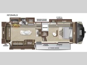 Mesa Ridge XLT MF294RLS Floorplan Image