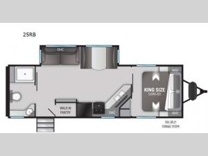 Radiance Ultra Lite 25RB Floorplan Image