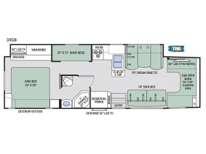 Four Winds Super C 35SB Floorplan Image