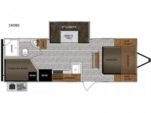 Tracer Breeze 24DBS Floorplan Image