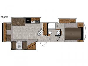 Wildcat 28SGX Floorplan Image