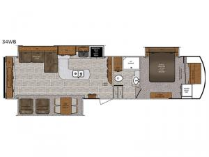 Wildcat 34WB Floorplan Image