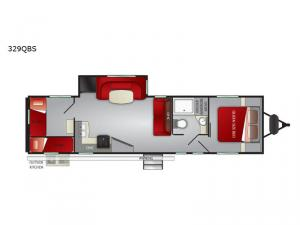 Shadow Cruiser 329QBS Floorplan Image