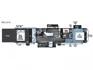 Vengeance Touring Edition 381L12-6 Floorplan Image