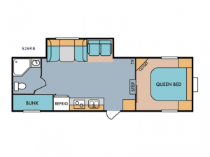 Retro 526RB Floorplan Image