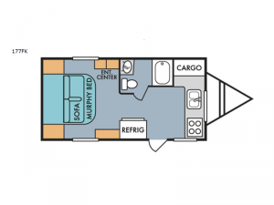 Retro 177FK Floorplan Image