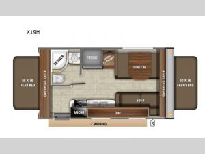 Jay Feather X19H Floorplan Image