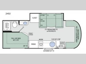 Synergy Sprinter 24SJ Floorplan Image