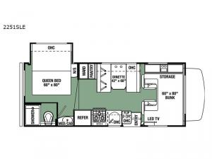 Forester LE 2251SLE Chevy Floorplan Image