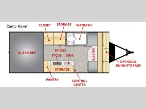 Little Guy Camp Rover Floorplan Image